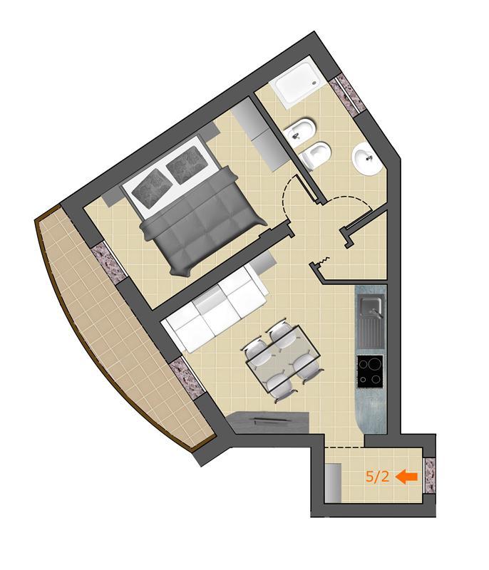 Appartamento Bilocale con terrazzo a Argenta in b. tisi - parco via medici - 01
