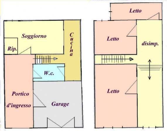 Appartamento da ristrutturare a Comacchio - centro storico - 01, Pianta