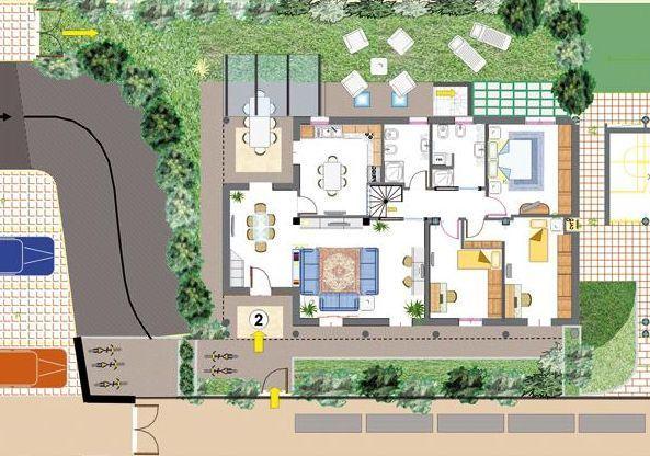 Appartamento con giardino a Modena - periferia sud - 01, planimetria piano terra