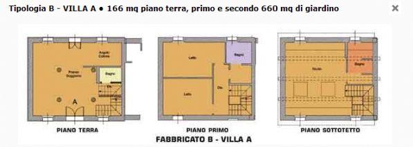 Villa con giardino a Modena - periferia sud - 01, planimetria