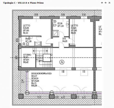 Villa con giardino a Modena - periferia sud - 01, planimetria 1° piano