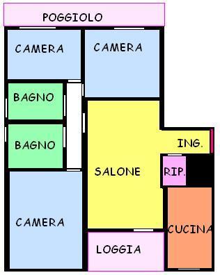 Vendo appartamento con terrazzo a Santa Maria di Sala - 01