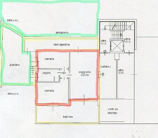 Appartamento con giardino a Torre de' Busi - favirano - 01, appartamento torre de busi con giardino panoramico
