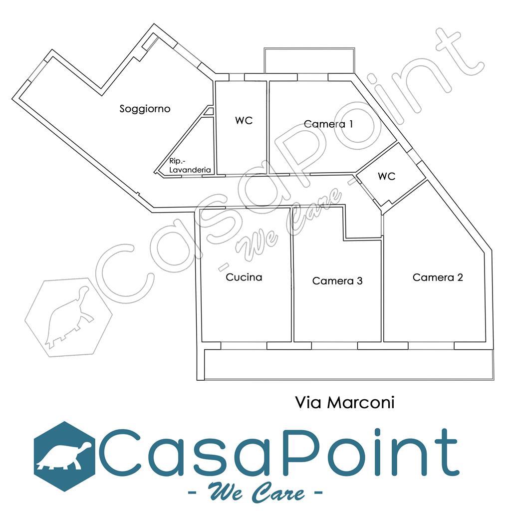 Appartamento in vendita in via marconi, Casoria
