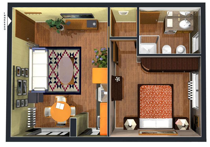 Appartamento Bilocale ristrutturato a Cinisello Balsamo - adiacenze centro - 01, Appartamento n. 3