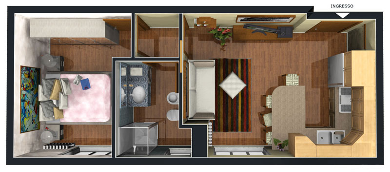 Appartamento Bilocale ristrutturato a Cinisello Balsamo - adiacenze centro - 01, Appartamento n. 4