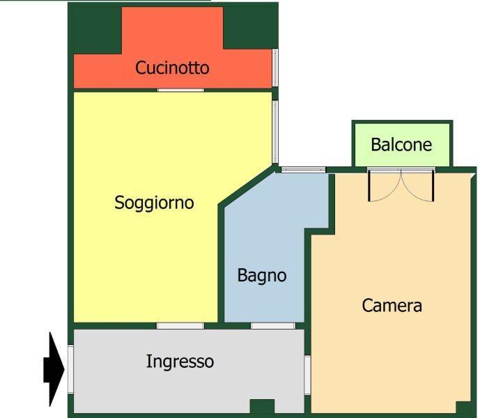 Vendo bilocale da ristrutturare a Milano - 01